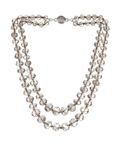 Ted Baker Kissar Beaded Chocker Necklace - predominant colour: silver; occasions: evening, occasion; style: multistrand; length: mid; size: large/oversized; material: chain/metal; finish: metallic; embellishment: beading; secondary colour: clear; season: s/s 2013