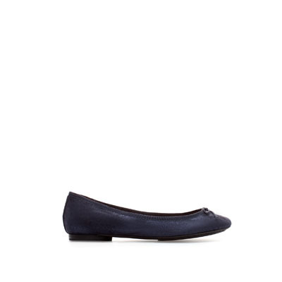 Metallic Leather Ballerina - predominant colour: black; occasions: casual, evening, work; material: leather; heel height: flat; toe: round toe; style: ballerinas / pumps; finish: metallic; pattern: plain; embellishment: bow; season: s/s 2013