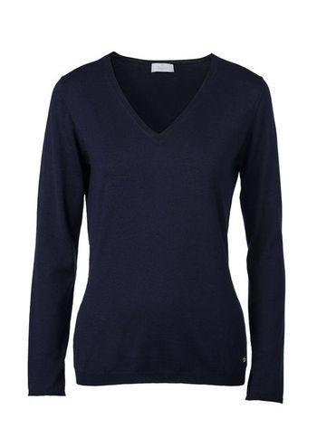 V Neck Sweater - neckline: v-neck; pattern: plain; length: below the bottom; style: standard; predominant colour: navy; occasions: casual, work; fibres: wool - mix; fit: slim fit; sleeve length: long sleeve; sleeve style: standard; texture group: knits/crochet; season: s/s 2013