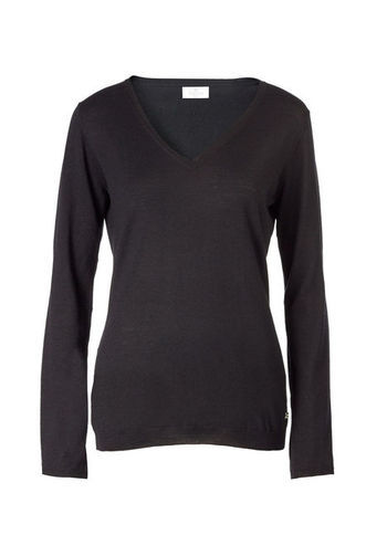 V Neck Sweater - neckline: v-neck; pattern: plain; style: standard; predominant colour: black; occasions: casual; length: standard; fibres: wool - mix; fit: slim fit; sleeve length: long sleeve; sleeve style: standard; texture group: knits/crochet; season: s/s 2013