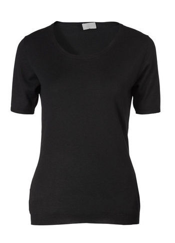 Twinset - neckline: round neck; pattern: plain; predominant colour: black; occasions: casual, work; length: standard; style: standard; fibres: wool - mix; fit: slim fit; sleeve length: short sleeve; sleeve style: standard; texture group: knits/crochet; season: s/s 2013