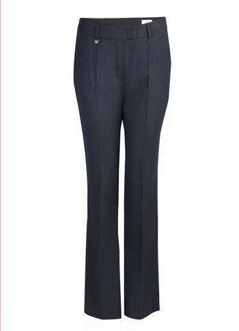 Flannel Trousers - length: standard; pattern: plain; pocket detail: small back pockets, pockets at the sides; waist: mid/regular rise; predominant colour: navy; occasions: casual, evening, work; fibres: wool - mix; fit: bootcut; pattern type: fabric; texture group: woven light midweight; style: standard; season: s/s 2013