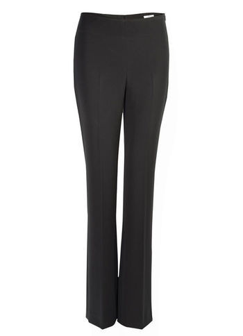Business Trousers - length: standard; pattern: plain; waist: mid/regular rise; predominant colour: black; occasions: casual, evening, work; texture group: crepes; fit: bootcut; pattern type: fabric; style: standard; season: s/s 2013