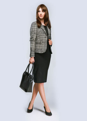 Business Bag - predominant colour: black; occasions: casual, work; style: tote; length: handle; size: standard; material: leather; pattern: plain; finish: plain; season: s/s 2013