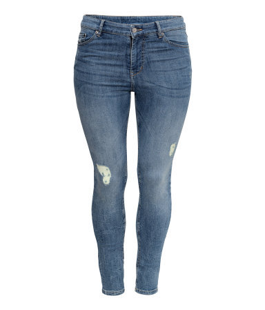 + Jeans - style: skinny leg; length: standard; pattern: plain; pocket detail: traditional 5 pocket; waist: mid/regular rise; predominant colour: denim; occasions: casual; fibres: cotton - stretch; jeans detail: whiskering, washed/faded; texture group: denim; pattern type: fabric; season: s/s 2013