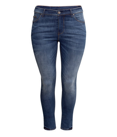 + Jeans - style: skinny leg; length: standard; pattern: plain; pocket detail: traditional 5 pocket; waist: mid/regular rise; predominant colour: denim; occasions: casual; fibres: cotton - stretch; jeans detail: whiskering, shading down centre of thigh, dark wash, washed/faded; texture group: denim; pattern type: fabric; season: s/s 2013