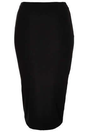 Tall Double Layer Tube Skirt - pattern: plain; fit: tight; waist: mid/regular rise; predominant colour: black; occasions: casual, evening, work; length: on the knee; fibres: viscose/rayon - stretch; style: tube; texture group: jersey - clingy; trends: 1940's hitchcock heroines; season: s/s 2013