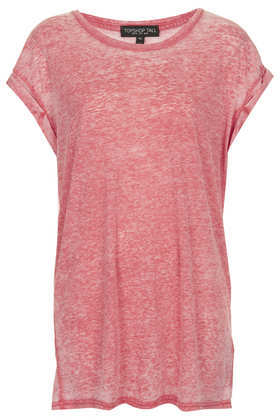 Tall Basic Burnout Tee - neckline: round neck; sleeve style: dolman/batwing; pattern: plain; length: below the bottom; style: t-shirt; predominant colour: pink; occasions: casual, holiday; fibres: polyester/polyamide - mix; fit: loose; sleeve length: short sleeve; texture group: jersey - stretchy/drapey; season: s/s 2013
