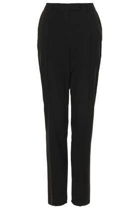 Tall Stitch Cigarette Trousers - length: standard; pattern: plain; waist: mid/regular rise; predominant colour: black; occasions: evening, work; fibres: polyester/polyamide - mix; fit: slim leg; pattern type: fabric; texture group: woven light midweight; style: standard; season: s/s 2013