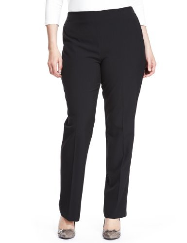 Plus Side Zip Slim Leg Trousers - length: standard; pattern: plain; waist: mid/regular rise; predominant colour: black; occasions: casual, evening, work; fibres: polyester/polyamide - stretch; fit: slim leg; pattern type: fabric; texture group: jersey - stretchy/drapey; style: standard; season: a/w 2013