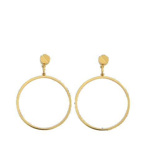 Hexagonal Hoop Earrings - predominant colour: gold; occasions: casual, evening, work, occasion; style: hoop; length: long; size: large/oversized; material: chain/metal; fastening: pierced; finish: plain; season: s/s 2013