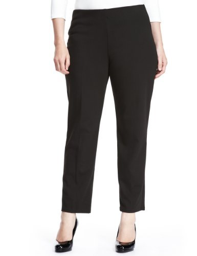 Plus Slim Leg Trousers With Stay New™ - pattern: plain; waist: mid/regular rise; predominant colour: black; occasions: casual, work; length: ankle length; fibres: polyester/polyamide - stretch; fit: slim leg; pattern type: fabric; texture group: other - light to midweight; style: standard; season: a/w 2013