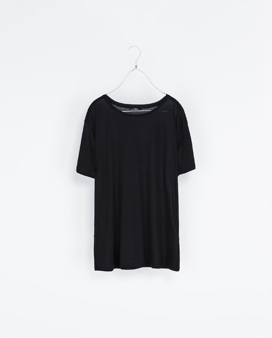 Round Neck T Shirt - neckline: round neck; pattern: plain; style: t-shirt; predominant colour: black; occasions: casual; length: standard; fibres: viscose/rayon - 100%; fit: straight cut; sleeve length: short sleeve; sleeve style: standard; pattern type: fabric; texture group: jersey - stretchy/drapey; season: s/s 2013