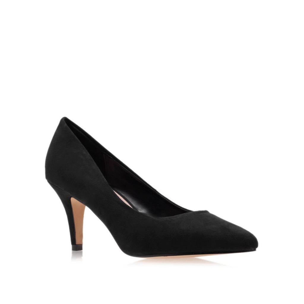 Kairo Court Shoes, Black - predominant colour: black; occasions: evening, work, occasion, creative work; material: suede; heel height: high; heel: stiletto; toe: pointed toe; style: courts; finish: plain; pattern: plain; trends: 1940's hitchcock heroines; season: s/s 2013