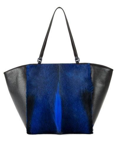 Ted Baker Theek Bold Trapeze Tote Bag - secondary colour: royal blue; predominant colour: black; occasions: casual, work, creative work; type of pattern: standard; style: tote; length: shoulder (tucks under arm); size: standard; material: leather; finish: plain; pattern: colourblock; trends: broody brights; season: s/s 2013