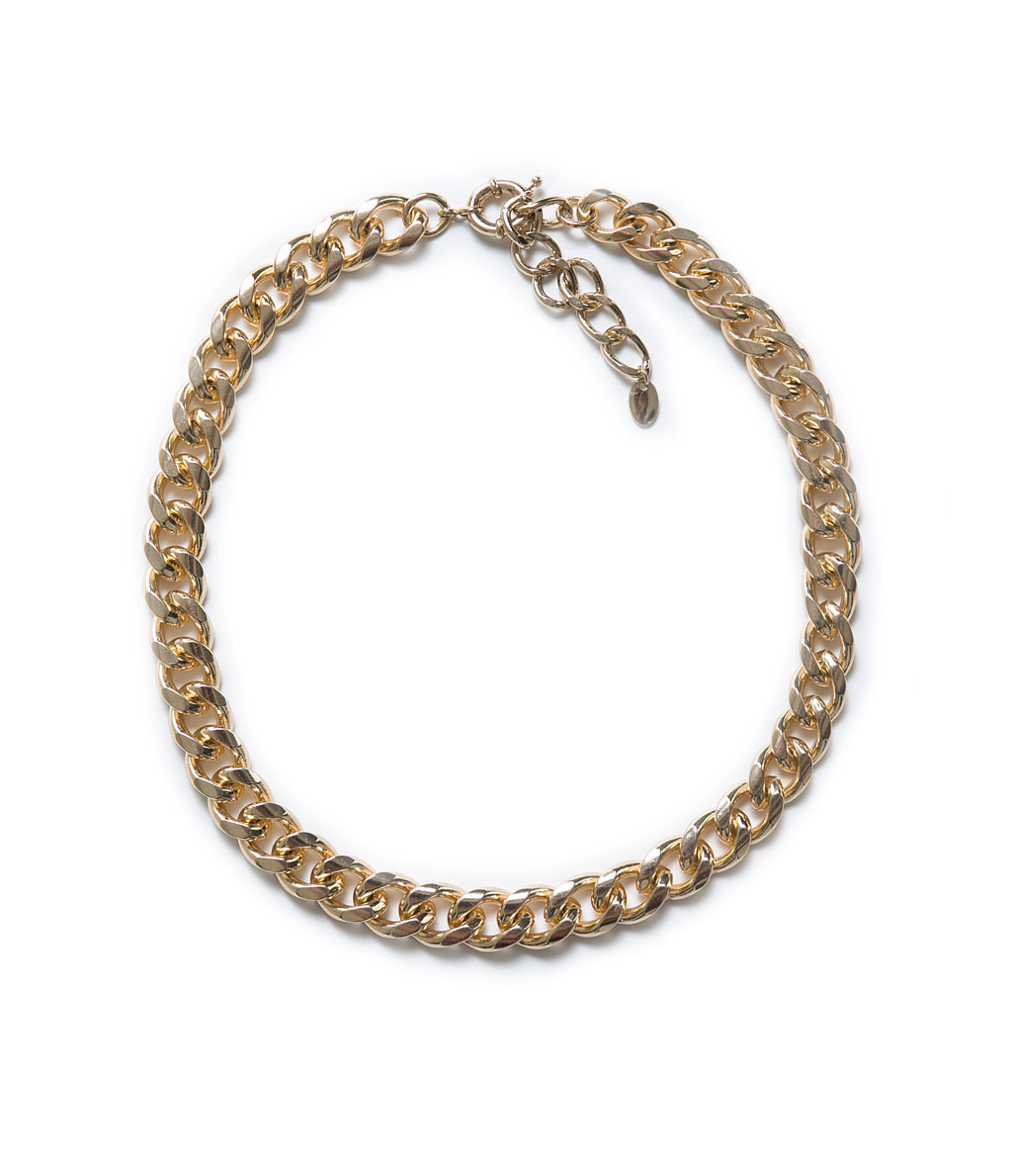 Basic Thick Link Chain - predominant colour: gold; occasions: casual, evening, work, occasion, holiday; length: short; size: standard; material: chain/metal; finish: metallic; season: a/w 2013; style: chain (no pendant)