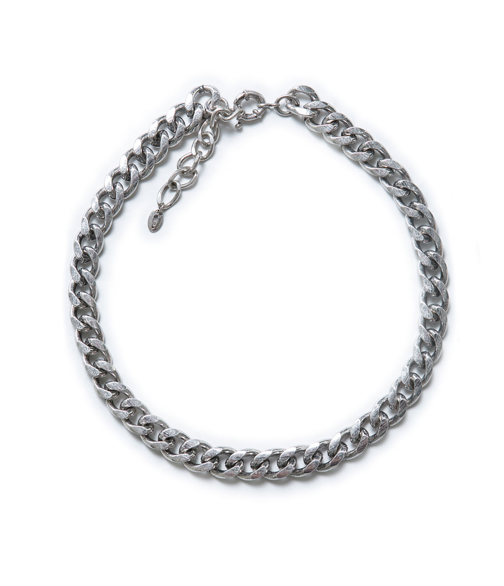 Basic Thick Link Chain - predominant colour: silver; occasions: casual, evening, work, occasion, holiday; length: short; size: standard; material: chain/metal; finish: metallic; season: a/w 2013; style: chain (no pendant)