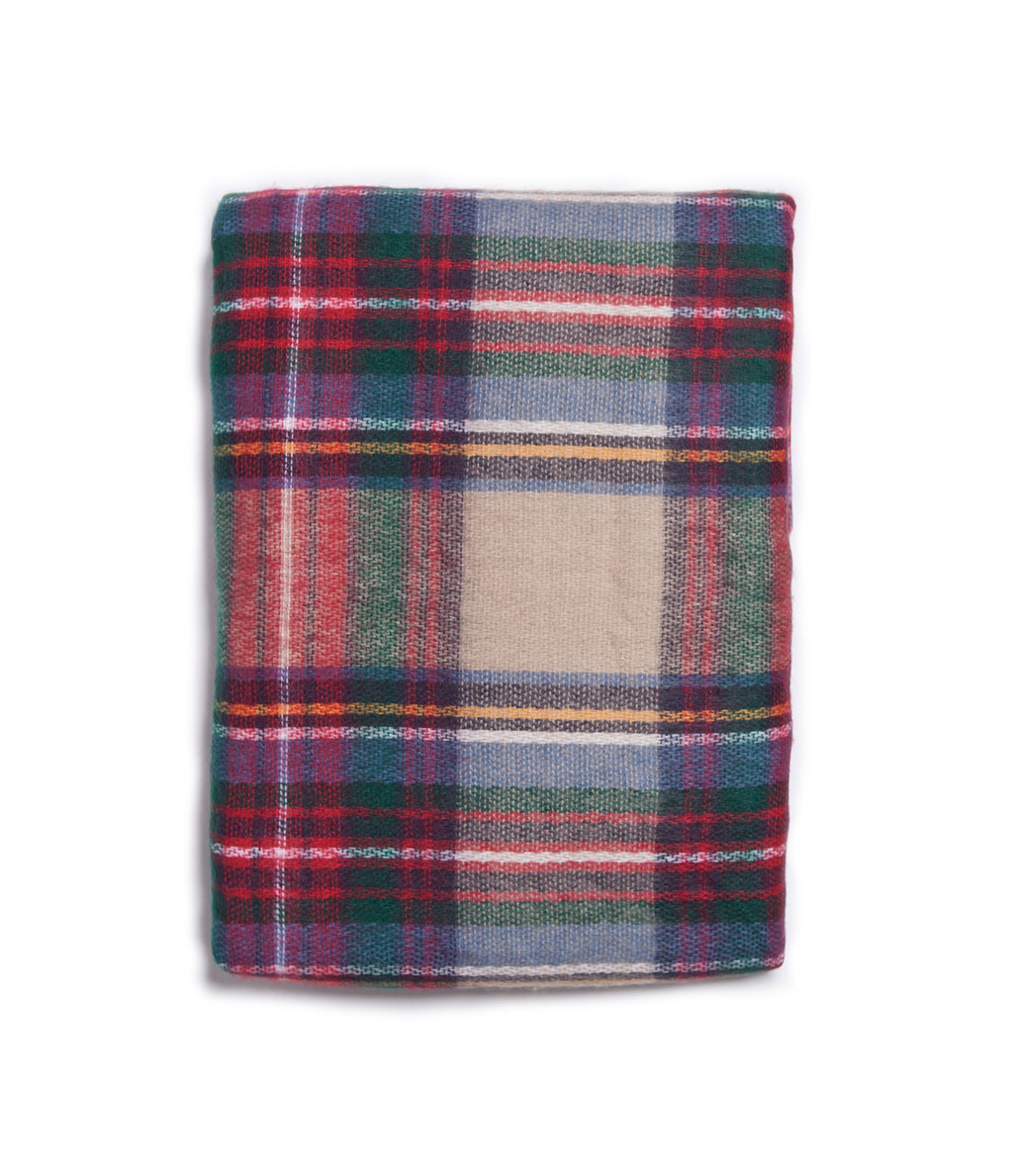 Checked Soft Scarf - secondary colour: burgundy; predominant colour: taupe; occasions: casual, work; type of pattern: standard; style: regular; size: standard; pattern: checked/gingham; material: cashmere; trends: playful prints; season: a/w 2013