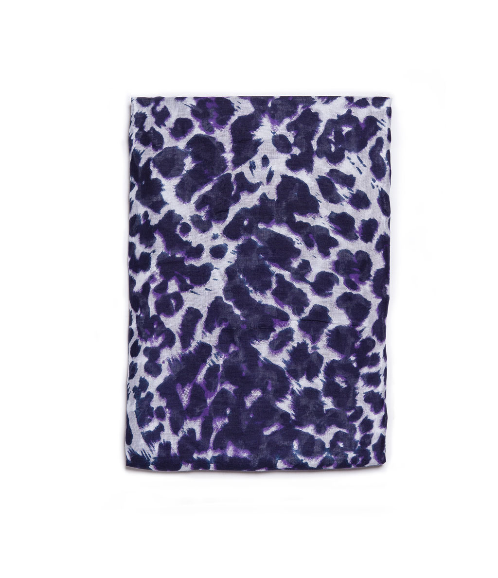 Leopard Print Scarf - predominant colour: purple; secondary colour: lilac; occasions: casual, work, occasion; style: regular; size: standard; material: fabric; pattern: animal print; trends: playful prints; season: a/w 2013