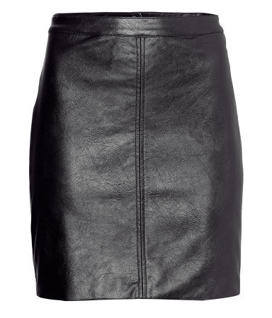 Imitation Leather Skirt - length: mini; pattern: plain; style: pencil; fit: tailored/fitted; waist: mid/regular rise; predominant colour: black; occasions: casual, evening, work; fibres: polyester/polyamide - 100%; texture group: leather; pattern type: fabric; trends: gorgeous grunge; season: a/w 2013