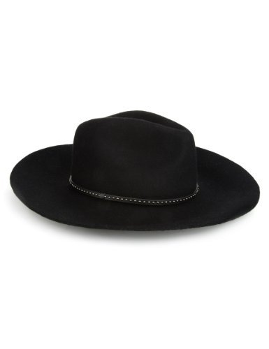 Autograph Lightweight Pure Wool Fedora Hat - predominant colour: black; occasions: casual; embellishment: studs; style: fedora; size: large; material: felt; pattern: plain; season: a/w 2013