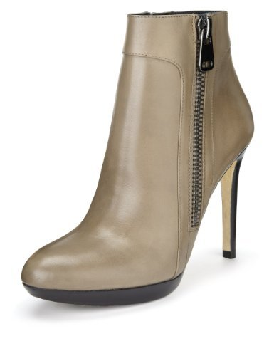 Autograph Premium Leather Platform Ankle Boots With Leather Lining And Insolia® - predominant colour: taupe; occasions: casual, creative work; material: leather; heel: stiletto; toe: round toe; boot length: ankle boot; style: standard; finish: plain; pattern: plain; heel height: very high; shoe detail: platform; season: a/w 2013
