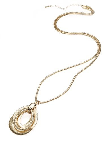 Limited Edition Ring Pendant Necklace - predominant colour: gold; occasions: casual, evening, work, occasion, holiday; style: pendant; length: long; size: large/oversized; material: chain/metal; finish: metallic; season: a/w 2013