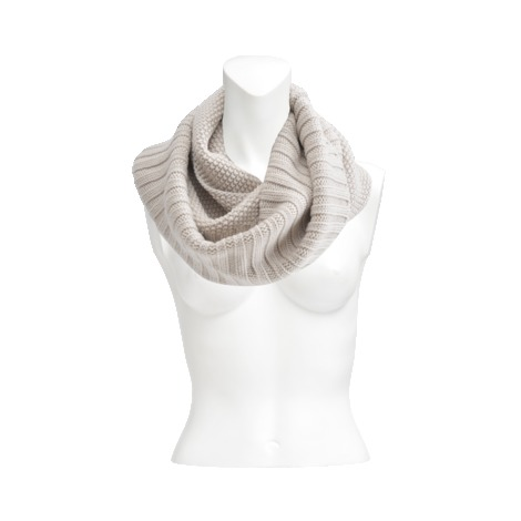 Two Tones Scarf - predominant colour: stone; occasions: casual, work, creative work; type of pattern: light; style: snood; size: standard; material: knits; pattern: plain; season: a/w 2013