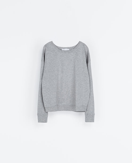 Special Sweatshirt With Detailing - neckline: round neck; pattern: plain; style: sweat top; predominant colour: light grey; occasions: casual; length: standard; fibres: cotton - 100%; fit: loose; sleeve length: long sleeve; sleeve style: standard; pattern type: fabric; texture group: jersey - stretchy/drapey; season: a/w 2013