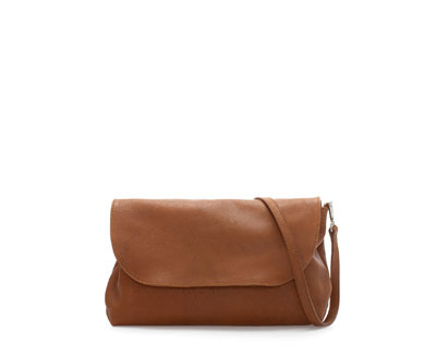 Soft Leather Messenger Bag - predominant colour: tan; occasions: casual, work; type of pattern: standard; style: messenger; length: shoulder (tucks under arm); size: standard; material: leather; pattern: plain; finish: plain; season: a/w 2013