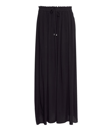 Maxi Skirt - pattern: plain; fit: loose/voluminous; waist: high rise; waist detail: belted waist/tie at waist/drawstring; predominant colour: navy; occasions: casual, evening, work, holiday; length: floor length; style: maxi skirt; fibres: viscose/rayon - 100%; pattern type: fabric; texture group: jersey - stretchy/drapey; season: a/w 2013; wardrobe: basic