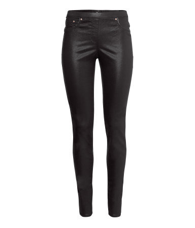 Super Stretch Treggings - length: standard; pattern: plain; style: leggings; pocket detail: large back pockets, pockets at the sides, traditional 5 pocket; waist: mid/regular rise; predominant colour: black; occasions: casual, evening; fibres: cotton - stretch; fit: skinny/tight leg; pattern type: fabric; texture group: other - stretchy; trends: gorgeous grunge; season: a/w 2013