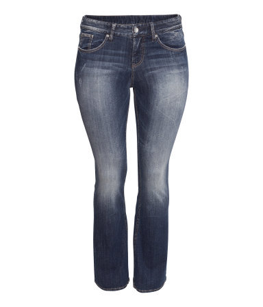 + Bootcut Jeans - style: bootcut; length: standard; pattern: plain; pocket detail: traditional 5 pocket; waist: mid/regular rise; predominant colour: navy; occasions: casual, evening; fibres: cotton - stretch; jeans detail: whiskering, shading down centre of thigh, washed/faded; texture group: denim; pattern type: fabric; season: a/w 2013