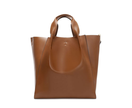 Shopper Bag - predominant colour: tan; occasions: casual, work; type of pattern: standard; style: tote; length: handle; size: standard; material: faux leather; pattern: plain; finish: plain; season: a/w 2013