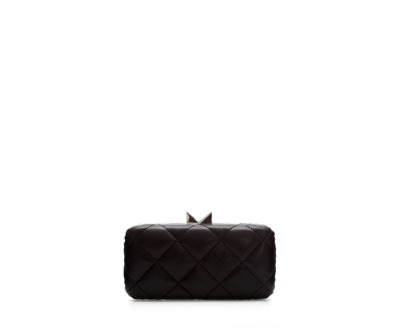 Quilted MinaudiÉre - predominant colour: black; occasions: evening, occasion; type of pattern: standard; style: clutch; length: hand carry; size: standard; material: faux leather; embellishment: quilted; pattern: plain; finish: plain; season: a/w 2013
