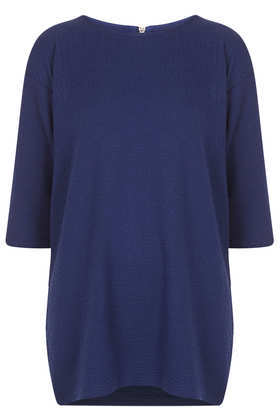 Honeycomb Sweat Tunic - pattern: plain; length: below the bottom; style: sweat top; predominant colour: navy; occasions: casual; fibres: polyester/polyamide - mix; fit: loose; neckline: crew; sleeve length: 3/4 length; sleeve style: standard; pattern type: fabric; texture group: jersey - stretchy/drapey; trends: broody brights; season: a/w 2013