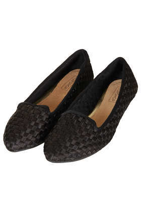 Musky Woven Slippers - predominant colour: black; occasions: casual, work; material: faux leather; heel height: flat; toe: round toe; style: ballerinas / pumps; finish: plain; pattern: plain; season: a/w 2013