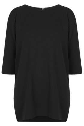 Honeycomb Sweat Tunic - neckline: round neck; pattern: plain; length: below the bottom; style: tunic; predominant colour: black; occasions: casual; fibres: polyester/polyamide - mix; fit: loose; sleeve length: 3/4 length; sleeve style: standard; pattern type: fabric; texture group: jersey - stretchy/drapey; season: a/w 2013