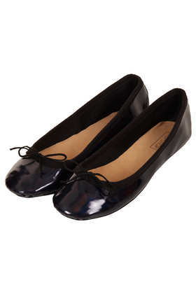 Vibrant Iridescent Ballerinas - predominant colour: black; occasions: casual, evening, work; material: faux leather; heel height: flat; toe: round toe; style: ballerinas / pumps; finish: patent; pattern: plain; embellishment: bow; trends: gothic romance; season: a/w 2013