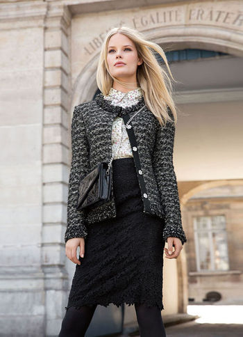 Lace Skirt - style: pencil; fit: tailored/fitted; waist: high rise; predominant colour: black; occasions: evening, work, occasion, creative work; length: just above the knee; fibres: cotton - 100%; texture group: lace; pattern type: fabric; pattern: patterned/print; embellishment: lace; season: a/w 2013; wardrobe: highlight; embellishment location: all over