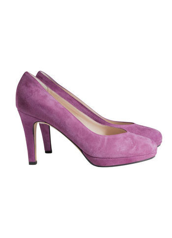 Court Shoes - predominant colour: magenta; occasions: evening, work, occasion, creative work; material: suede; heel height: high; toe: round toe; style: courts; finish: plain; pattern: plain; season: a/w 2013