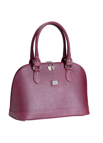 Bag - predominant colour: burgundy; occasions: work; style: bowling; length: shoulder (tucks under arm); size: standard; material: leather; pattern: plain; finish: plain; season: a/w 2013