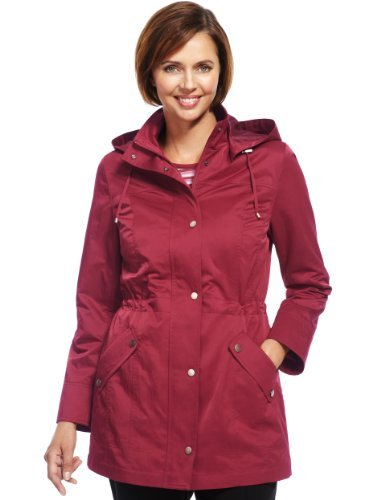 Classic Hooded Parka With Stormwear™ - pattern: plain; length: below the bottom; collar: funnel; style: parka; back detail: hood; predominant colour: true red; occasions: casual; fit: straight cut (boxy); fibres: polyester/polyamide - mix; waist detail: belted waist/tie at waist/drawstring; sleeve length: long sleeve; sleeve style: standard; texture group: technical outdoor fabrics; collar break: high/illusion of break when open; pattern type: fabric; trends: broody brights; season: a/w 2013