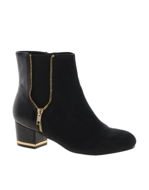 Prossie Ankle Boots - predominant colour: black; occasions: casual, creative work; material: faux leather; heel height: mid; heel: block; toe: round toe; boot length: ankle boot; style: standard; finish: plain; pattern: plain; season: a/w 2013