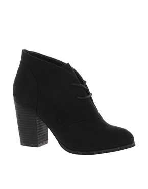 Block Heel Ranger Ankle Boots - predominant colour: black; occasions: casual, creative work; material: suede; heel height: mid; heel: block; toe: round toe; boot length: ankle boot; style: standard; finish: plain; pattern: plain; season: a/w 2013