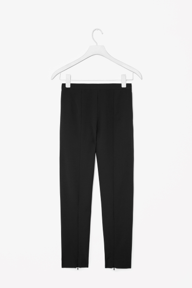 Slim Wool Trousers - length: standard; pattern: plain; pocket detail: small back pockets; waist: mid/regular rise; predominant colour: black; occasions: casual, evening, work, creative work; fibres: wool - stretch; fit: slim leg; pattern type: fabric; texture group: woven light midweight; style: standard; trends: 1940's hitchcock heroines, masculine feminine; season: a/w 2013
