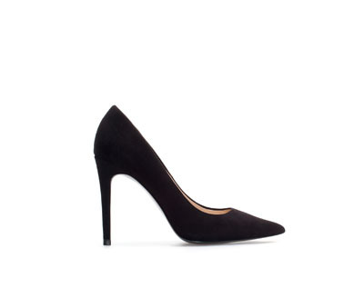 Pointed Court Shoe - predominant colour: black; occasions: evening, work, occasion, creative work; material: leather; heel height: high; heel: stiletto; toe: pointed toe; style: courts; finish: plain; pattern: plain; trends: 1940's hitchcock heroines; season: a/w 2013