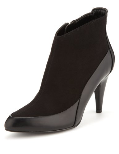 Limited Edition Pointed Toe Ankle Boots With Insolia® - predominant colour: black; heel height: high; heel: stiletto; toe: pointed toe; boot length: ankle boot; style: standard; finish: plain; pattern: plain; material: faux suede; occasions: creative work; season: a/w 2013