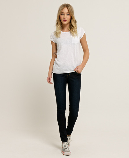 Superskinny Jeans - style: skinny leg; length: standard; pattern: plain; pocket detail: traditional 5 pocket; waist: mid/regular rise; predominant colour: black; occasions: casual, evening, work, creative work; fibres: cotton - stretch; jeans detail: dark wash; texture group: denim; pattern type: fabric; season: a/w 2013