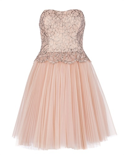 Ted Baker Tammie Lace Bodice Dress - neckline: strapless (straight/sweetheart); pattern: plain; sleeve style: strapless; predominant colour: nude; occasions: evening, occasion; length: on the knee; fit: fitted at waist & bust; style: fit & flare; fibres: cotton - mix; bust detail: contrast pattern/fabric/detail at bust; sleeve length: sleeveless; texture group: net/tulle; embellishment: lace; season: a/w 2013